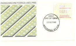 (156) Australia FDC Cover -  Vending Machine Labels 1985  (set Of 33 Covers X 5) - Premiers Jours (FDC)