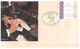 (156) Australia FDC Cover -  Vending Machine Labels 1984  (1 C Melbourne Postmark) - Premiers Jours (FDC)