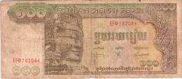 CAMBODGE   100 Riels   ND (1968)   Sign.8   P. 8b - Cambodia