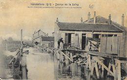Inondations De 1910 - Décrue De La Seine - Villeneuve La Garenne, Passage De L'Avenir, Les Décombres - Carte F.F. Paris - Inondations