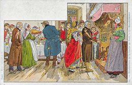 Illustration Paul Kauffmann: Usages Et Costumes D'Alsace, N° 24: Bénédiction De La Buche De Noël - Carte Non Circulée - Kauffmann, Paul