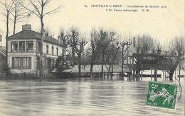 Joinville-le-Pont - Inondations De Janvier 1910: L'Ile Fanac Submergée, L'Ermitage Restaurant - Carte E.M. N° 34 - Inondations