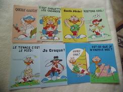 LOT DE 8 ILLUSTRATIONS HUMORISTIQUES ... - Cartes Postales