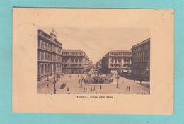 Old/Antique? Postcard Of Piazza Della Borsa,Naples, Campania, Italy,Posted,R23. - Napoli (Naples)