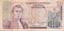 COLOMBIE   10 Pesos Oro   7/8/1979   P. 407g - Colombie