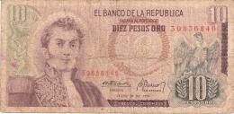 COLOMBIE   10 Pesos Oro   20/7/1974   P. 407f - Colombie