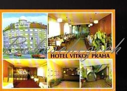 7-563 CZECHOSLOVAKIA 1981 Hotel Vítkov* * * * Konevova 114, Praha 3 Zizkov Skoda 105 / 120 / 125 Trabant - Handel