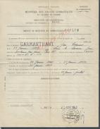 MILITARIA PARIS 1947 BREVET DE RETRAITE DU COMBATANT CARMANTRANT NE A LONS LE SAUMIER : - Documents