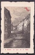 Carte Pub MAGGI - VERVIERS - Le Quai De La Batte  - Lith. M. Roussel, Bruxelles N°9 - Verviers