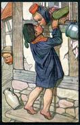 """CPA Color Signierte Künstlerkarte German Empires Fulda 1915""""Künstler Hessenkarte Nr.4 """"1AK Used - Retratos"""
