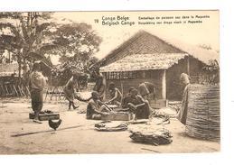 Entier CP 5c Belgisch Congo Belge N°19 C.Kinsmasa En 1913 V.Bruxelles C.d'arrivée PR4334 - Entiers Postaux