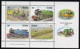 1984, Irland, 528/31 Block 5, 150 Jahre Irische Eisenbahn, MNH **. - Blocks & Sheetlets