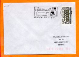 INDRE, Neuvy Pailloux, Flamme SCOTEM N° 12264, Chateau, Eglise Du XIIe, Stèles Gallo-romaines - Marcofilie (Brieven)