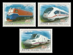 North Korea 2012 Mih. 5916/18 Locomotives MNH ** - Korea (Nord-)