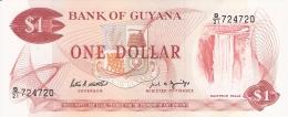 GUYANA   1 Dollar   ND (1989)   Sign.7   P. 21f   UNC - Guyana