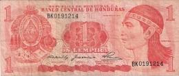 HONDURAS   1 Lempira   29/5/1980   P. 68a - Honduras