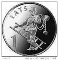 Latvia 2008 1 Lats Lucky Coin Sweeper Chimney-sweeper - UNC - Lettonia