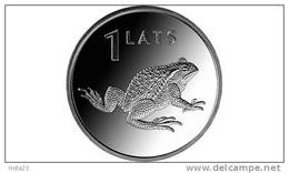 Latvia Animal Coin - Toad - Amphibian 1 Lats  2010 Y UNC - Lettonia
