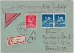 DR - 2x25+12 Pfg. Wiener Messe, Einschreibe-Nachnahmebrief Posen - Berlin 1942 - Briefe U. Dokumente