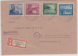 DR - Riegersdorf ü. Bielitz, Poststelle I, Einschreibebrief N. Bielitz 1944 - Briefe U. Dokumente