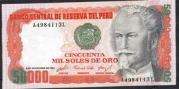 PERU   P125   50.000  SOLES    2.11.1984    UNC. - Peru