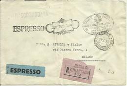 R174-Raccomandata Espressa In Franchigia 14.7.1940 - Carteggio Reale - 1900-44 Victor Emmanuel III
