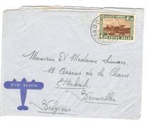 TP 202 Parc Nationaux S/L.Avion C.Jadotville 14/2/1940 V.Etterbeek Via Luluabourg PR4341 - Poste Aérienne: Lettres