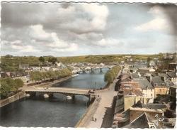 CP Châteaulin  Vue Générale De La Rivière Et Des Deux Ponts 29 Finistère - Châteaulin