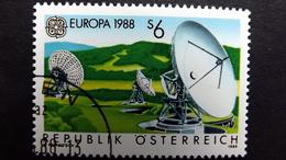 Österreich 1922 Oo/used, EUROPA/CEPT 1988, Erdfunkstelle Aflenz - 1981-90 Used