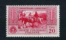 EMISSIONI GENERALI 1932 - Cinquantenario Garibaldino - 20 C. - MH - Sa:IT-GE 2 - Emissioni Generali