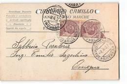 14883 01 RANCIARO SAN SEVERINO MARCHE X OMEGNA - Marcophilie