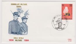 Enveloppe Cover Brief FDC 721 2134 école Royale Militaire Ciney - FDC