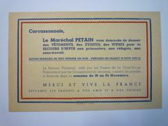 CARCASSONNE  :  TRACT PETAINISTE Adressé Aux Habitants De Carcassonne  -  RARE X  (1940 - 1941 ?) - 1939-45