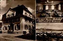 GASTHOF-BAHNHOF..3 VUES..CPSM PETIT FORMAT - Allemagne