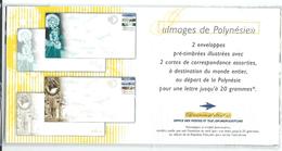 """Polynésie Prêt-à-poster Yt 3-E Et 4-E """" Images De Polynésie """" 1998 Sous Blister - Prêt-à-poster"""