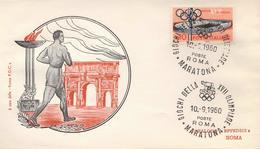 ITALIA - CORSA A PIEDI - OLIMPIADE ROMA 1960 - MARATHON - MARATONA - Atletica