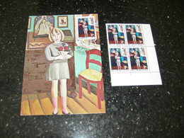 "BELG.1972 1638 MK/MC + 4erbloc MNH Met Eerstedag Stempel  "" Philatélie De La Jeunesse- Jeugdfilatelie "" - Maximum Cards"
