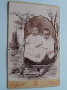 2 ENFANTS / KINDEREN () - ( CABINET Photo G. BAERT Tourcoing ) See Photo For Details !! - Anonymous Persons