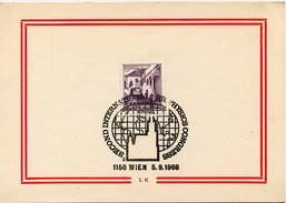 AUSTRIA - 1966 - Int. BIOPHYSICS CONGRESS - WIEN 1966 - Salute