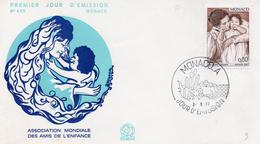 Monaco 1977 Fdc Association Mondiale Des Amis De L'enfance (01378) - FDC
