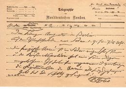 Altdeutschland Norddeutscher Bund Telegramm 1870   (  N  5684  ) - Bavaria