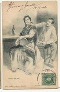 Venga De Ahi Bailarina Flamenco  De Blanco Y Negro 548 Hauser Y Menet  1904 Dorso No Dividido Hacia Cluses Savoie - Espagne