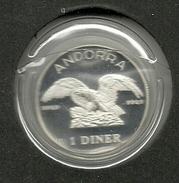 ANDORRA SERVEI D'EMISSIONS 1DINER 1990 EN PLATA CON ESTUCHE(M.C.4.17) - Andorra