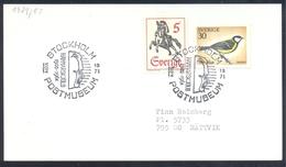 Sweden 1971 Card: Nobel Prize 1961 Peace : Dag Hammarskjöld United Nations; Birds Vogel Great Tit (Parus Major); Horse - Dag Hammarskjöld