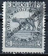 """PIA - FIUME  - 1922 :Francobolli Pro Fondazione Studio Soprastampati """"24-4-1921 Costituente Fiumana """"  - (SAS 166) - Occupation 1ère Guerre Mondiale"""