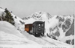 CHEMIN DE FER DE NAYE → Paysage D'hiver, Dampfzug Im Winter Unterwegs, Lichtdruck Ca.1910 - VD Vaud