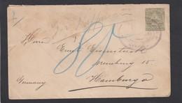 ENTIER POSTAL DE 1898 DE MANAGUA POUR HAMBOURG.CACHET:PAQUEBOT FRANCAIS NO 2,LIGNE D. - Nicaragua