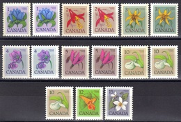 Canada N° 625 - 630, 630a, 671, 691 - 693, 710 - 712, 725 ** Fleurs Sauvages - Nuovi