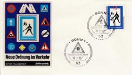 FDC  665  Neue Regeln Im Straßenverkehr - Schülerlotse, Bonn 1 - [7] Federal Republic