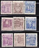 España 1944. Milenario De Castilla. Ed 974 / 982. MNH. **. - 1931-50 Ongebruikt